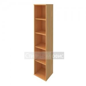Стеллаж высокий узкий деревянный в офис