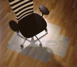 Т - образный прозрачный напольный коврик для паркета или ламината