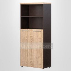 Шкаф полузакрытый высокий широкий офисный для руководителя