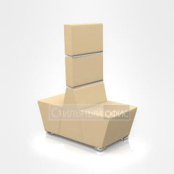 Кресло сдвоенное офисное мягкое для отдыха с высокой спинкой