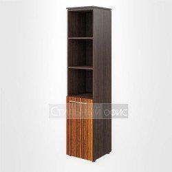 Шкаф узкий высокий полузакрытый левый офисный для руководителя