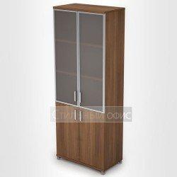 Шкаф со стеклянными дверками в рамке