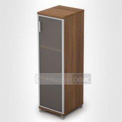 Шкаф со стеклянной дверкой в алюминиевой рамке