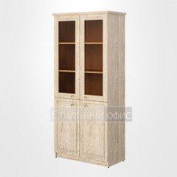 Шкаф высокий широкий со стеклом офисный для руководителя