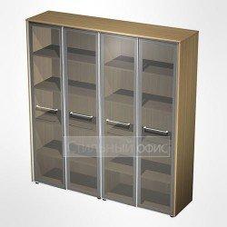 Шкаф для документов со стеклянными дверьми в кабинет руководителя
