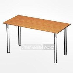 Стол офисный на хромированных опорах