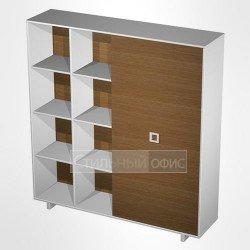 Шкаф-купе офисный комбинированный высокий (одежда-документы) в кабинет руководителя