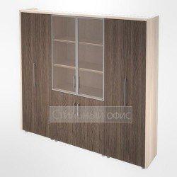 Шкаф для документов и одежды в кабинет руководителя