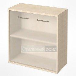 Шкаф низкий широкий с матовым стеклом
