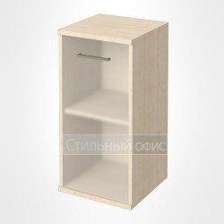 Шкаф низкий узкий с матовым стеклом