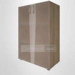 Шкаф средний широкий со стеклянными дверками для руководителя
