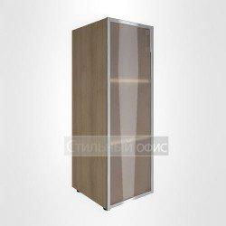 Шкаф средний узкий закрытый со стеклом в раме