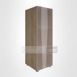 Шкаф средний узкий закрытый со стеклом для руководителя
