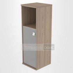 Шкаф средний узкий полузакрытый со стеклом