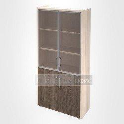 Шкаф витрина с накладками кабинет руководителя