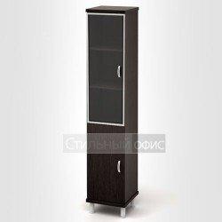 Шкаф узкий высокий с алюминиевым профилем