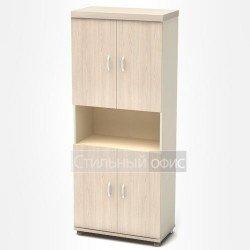 Шкаф высокий с нишей в кабинет