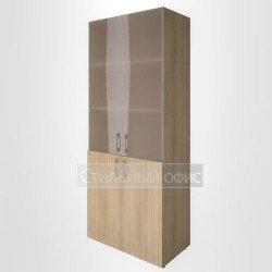 Шкаф высокий широкий со стеклом для руководителя
