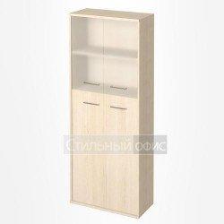 Шкаф высокий широкий со стеклянными дверками