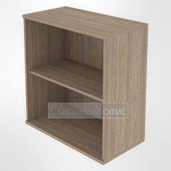 Стеллаж низкий широкий офисный деревянный