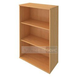 Стеллаж средний широкий деревянный в офис