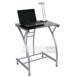 Стол для компьютера с темным стеклом