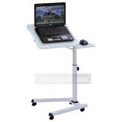 Стол для ноутбука на роликах белый