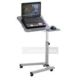 Стол для ноутбука на роликах серый