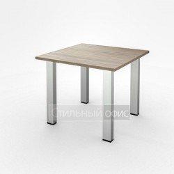 Стол переговорный квадратный на металлических опорах