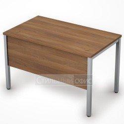 Стол на металлокаркасе с экраном средний