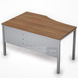 Стол на металлокаркасе с металлическим экраном правый