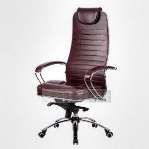 Кресло офисное для руководителя Samurai KL-1 Перфорированная натуральная кожа