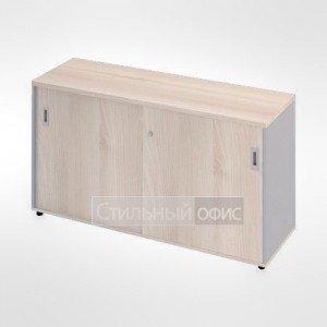 Шкаф купе с полками широкий низкий офисный для персонала