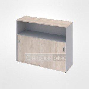 Шкаф купе с полками широкий средний офисный для персонала