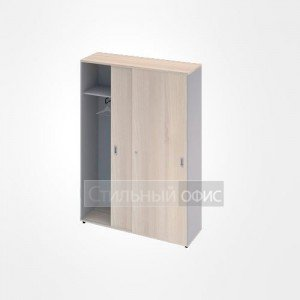 Шкаф купе с полками широкий высокий офисный для персонала