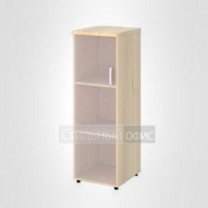 Шкаф узкий средний левый со стеклом без рамы офисный для персонала