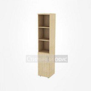 Шкаф узкий высокий полузакрытый левый офисный для персонала 19.75 + 19.82 L