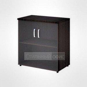 Шкаф широкий низкий со стеклом офисный для персонала 20.72 + 20.89