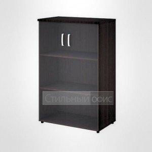 Шкаф широкий средний со стеклом офисный для персонала 20.75 + 20.90