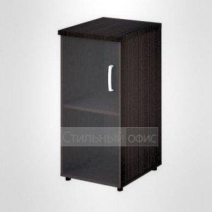 Шкаф узкий низкий левый со стеклом офисный для персонала 20.71 + 20.89 L