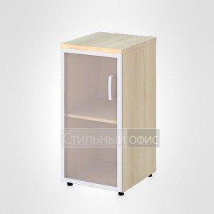 Шкаф узкий низкий левый со стеклом в раме офисный для персонала 20.71 + 20.86 L