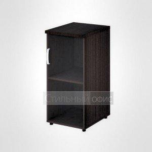 Шкаф узкий низкий правый со стеклом офисный для персонала 20.71 + 20.89 R