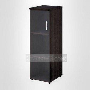 Шкаф узкий средний левый со стеклом офисный для персонала 20.74 + 20.90 L