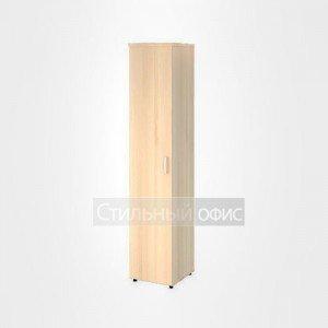 Шкаф высокий узкий левый полузакрытый со стеклом офисный для персонала 20.77 + 20.85 L
