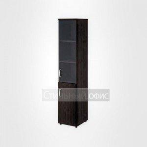 Шкаф высокий узкий правый полузакрытый со стеклом офисный для персонала 20.77 + 20.83 + 20.90 R