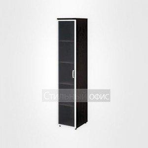 Шкаф высокий узкий со стеклом в раме левый офисный для персонала 20.77 + 20.88 L
