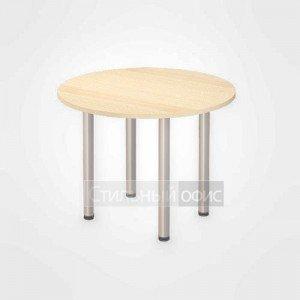 Стол переговорный круглый офисный на металлических опорах для персонала 20.32-01