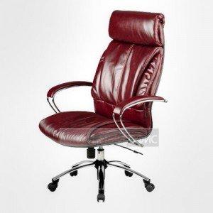 Кресло офисное для руководителя LK-13 Ch Перфорированная натуральная кожа