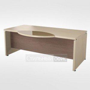 Рабочий стол со стеклянной вставкой в кабинет руководителя 44.05.24