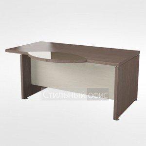Стол рабочий правый со стеклянной вставкой в кабинет руководителя